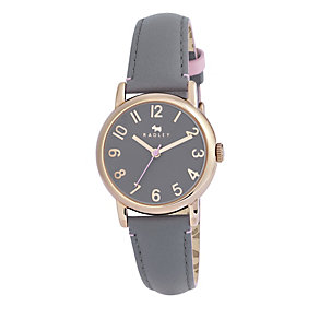 Radley Ladies' Rose Gold Plate & Grey Leather Strap Watch - Product number 2853345
