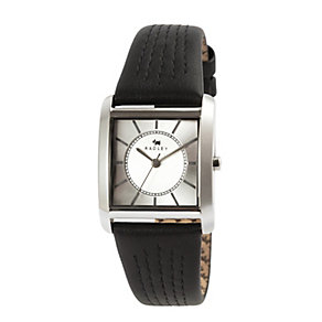 Radley Ladies' Euston Stainless Steel & Black Leather Watch - Product number 2853353