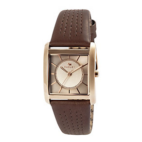 Radley Ladies' Euston Rose Gold Plate & Brown Leather Watch - Product number 2853361