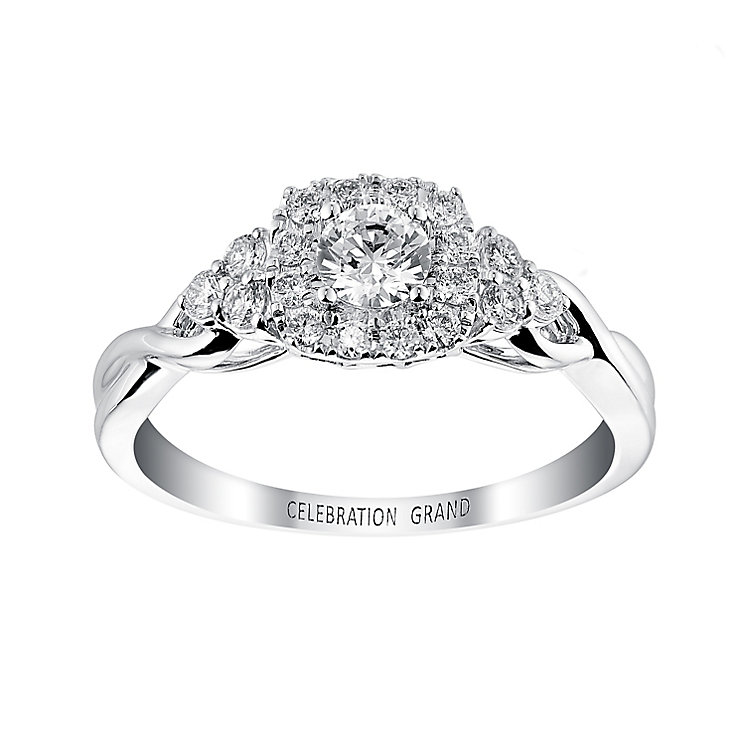 Celebration Grand 18ct White Gold Twist Detail Diamond Ring - Product number 2853388