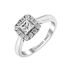 Celebration Grand 18ct White Gold Princess Cut Diamond Ring - Product number 2853531