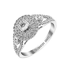 Celebration Grand 18ct White Gold 2/3 Carat Diamond Ring - Product number 2854023