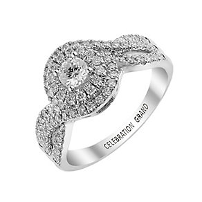 Celebration Grand 18ct White Gold 3/4 Carat Diamond Ring - Product number 2854171