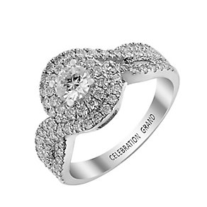 Celebration Grand 18ct White Gold 1 Carat Diamond Ring - Product number 2854341