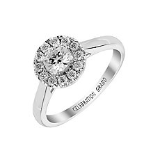 Celebration Grand 18ct White Gold Half Carat Diamond Ring - Product number 2854708