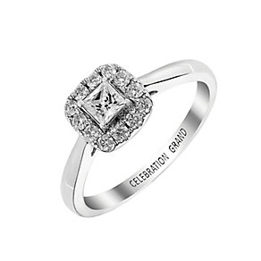 Celebration Grand 18ct White Gold Princess Cut Diamond Ring - Product number 2855119