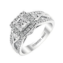 Celebration Grand 18ct White Gold Princess Cut Diamond Ring - Product number 2855410