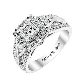 Celebration Grand 18ct White Gold Princess Cut Diamond Ring - Product number 2855410