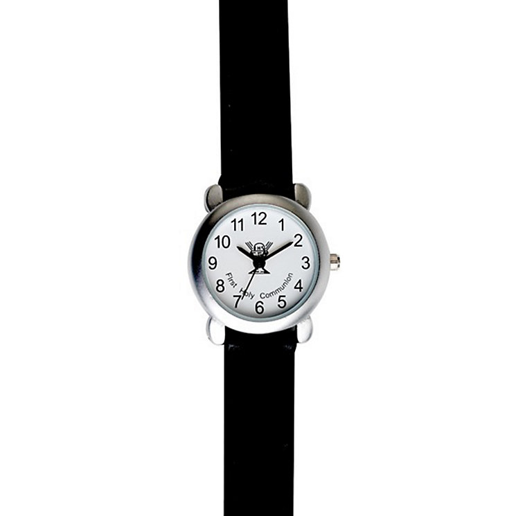 Cailin Black Strap Boy's First Communion Watch - Product number 2858975