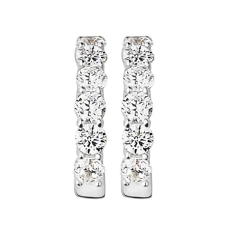 Dyrberg Kern Cai Silver Tone Crystal Hoop Earrings - Product number 2862743