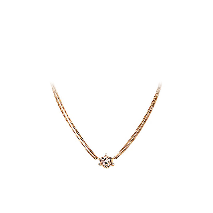 Dyrberg Kern Pavilia Rose Gold Tone Crystal Chain Necklace - Product number 2862794
