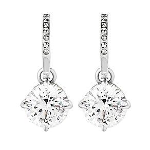 Dyrberg Kern Jamilla Silver Tone Crystal Drop Earrings - Product number 2862824