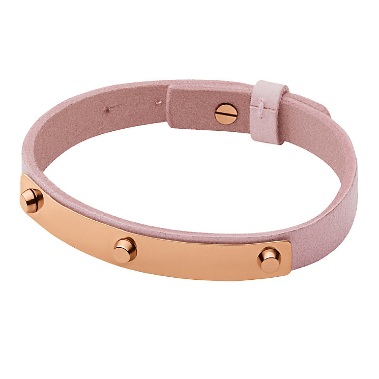 Dyrberg Kern Kaya Rose Gold Tone Pink Leather Bracelet - Product number 2862832