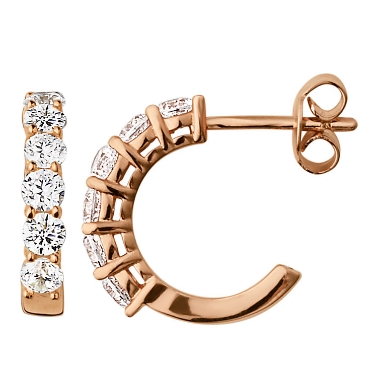 Dyrberg Kern Cai Rose Gold Tone Crystal Hoop Earrings - Product number 2862867