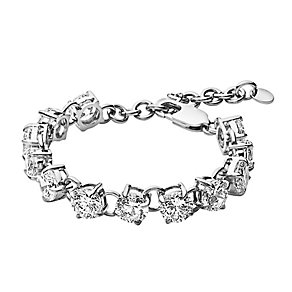 Dyrberg Kern Helice Silver Tone Crystal Tennis Bracelet - Product number 2862913