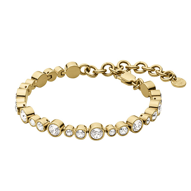 Dyrberg Kern Teresia Yellow Gold Tone Crystal Bracelet - Product number 2862956