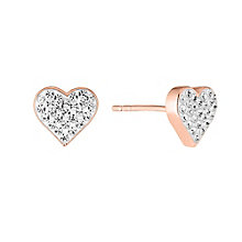 Evoke Silver & 9ct Rose Gold Swarovski Elements Earrings - Product number 2864169