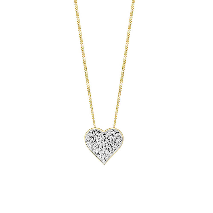 Evoke Silver & 9ct Gold Plate Swarovski Elements Pendant - Product number 2864207