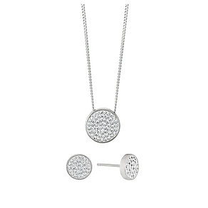INTRODUCTORY OFFER Evoke Silver Pendant & Earrings Set - Product number 2864223