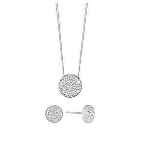Evoke Silver Pendant & Earrings Set - Product number 2864223