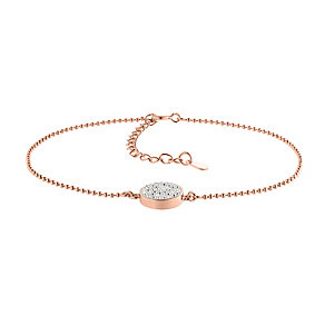Evoke Silver & 9ct Gold Plate Swarovski Elements Bracelet - Product number 2864231