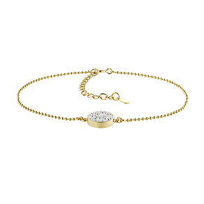 Evoke Silver & 9ct Gold Plate Swarovski Elements Bracelet - Product number 2864274