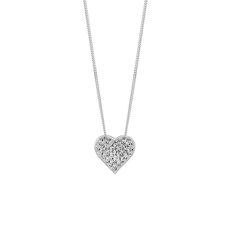 Evoke Silver & Rhodium Plate Swarovski Elements Pendant - Product number 2864827