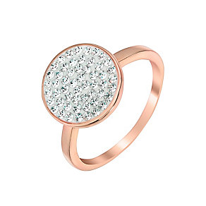 Evoke Silver & 9ct Rose Gold Plate Swarovski Elements Ring - Product number 2865017