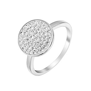 Evoke Silver & Rhodium Plate Swarovski Elements Ring - Product number 2865238