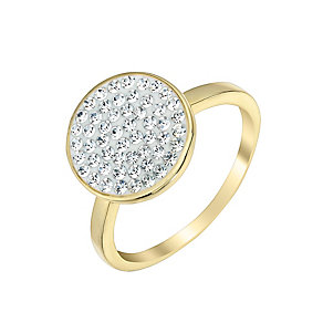 Evoke Silver & 9ct Yellow Gold Plate Swarovski Elements Ring - Product number 2865785