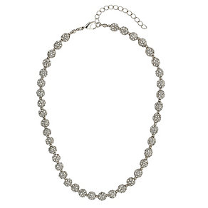 Mikey Silver Tone Crystal Set Ball Necklace - Product number 2865920