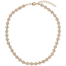 Mikey Rose Gold Tone Crystal Set Ball Necklace - Product number 2865939