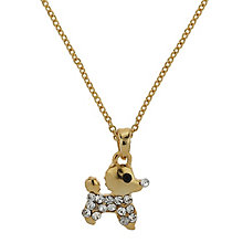 Mikey Yellow Gold Tone Diamante Dog Necklace - Product number 2865947