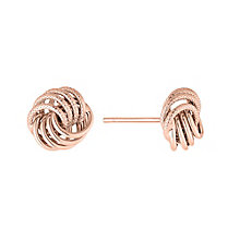9ct Rose Gold Knot Design Stud Earrings - Product number 2866013