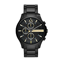 Armani Exchange Men's Black Ion Plated Chronograph Watch - Product number 2866056