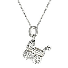 Mikey Silver Tone Diamante Pram Necklace - Product number 2866064