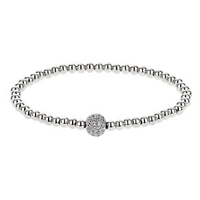 Mikey Silver Tone & Crystal Set Beaded Bracelet - Product number 2866102