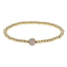 Mikey Yellow Gold Tone Crystal Set Ball Bracelet - Product number 2866218