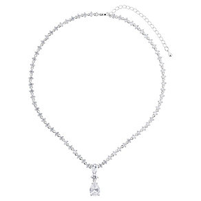 Mikey Silver Tone Crystal Set Drop Pendant - Product number 2866234