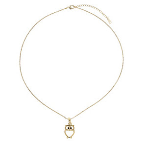 Mikey Yellow Gold Tone Owl Pendant - Product number 2866382