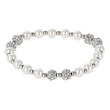 Mikey Crystal Bead & Imitation Pearl Bracelet - Product number 2866501