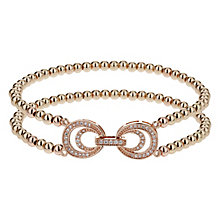 Mikey Rose Gold Tone Beaded Crystal Set Circle Bracelet - Product number 2866536
