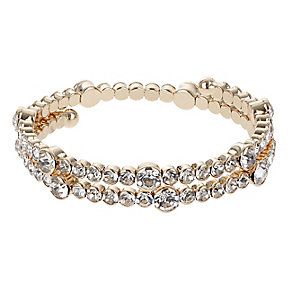 Mikey Rose Gold Tone Clear Crystal Bracelet - Product number 2866544