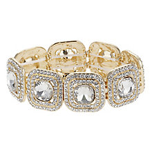 Mikey Yellow Gold Tone Square Link Crystal Bracelet - Product number 2866560