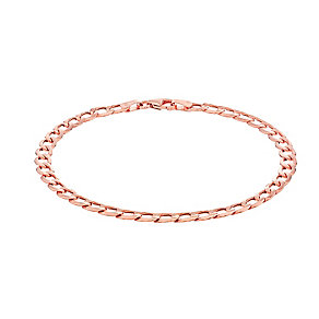 9ct Rose Gold Curb Chain Bracelet - Product number 2866625