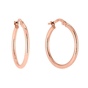 9ct Rose Gold Creole Hoop Earrings - Product number 2866706