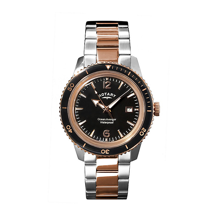 Rotary men's two tone bracelet watch - Product number 2866838