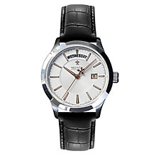 Dreyfuss & Co. men's stainless steel black strap watch - Product number 2866889