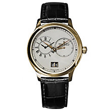 Dreyfuss & Co. men's gold-plated black leather strap watch - Product number 2866919