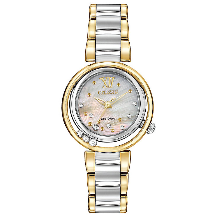 Citizen Ladies' Eco-Drive Sunrise 10 Diamonds Watch - Product number 2868466